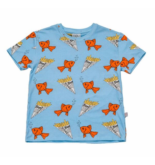 Boy wonder fish short tee front £31