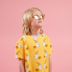 Lucas Kids Short Tee – Milk