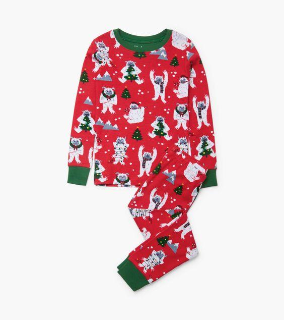 Hatley Yuletide Yetis Pyjamas