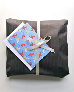 Gift wrap wrapped