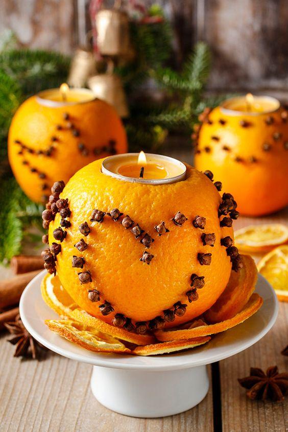 Orange candle holders