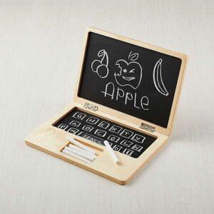 Laptop chalkboard