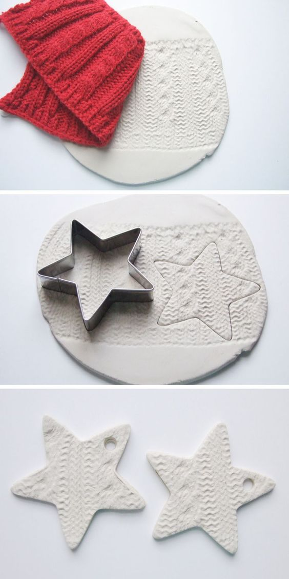 Clay embossed decorations