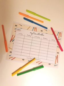 Homeschooling Timetable