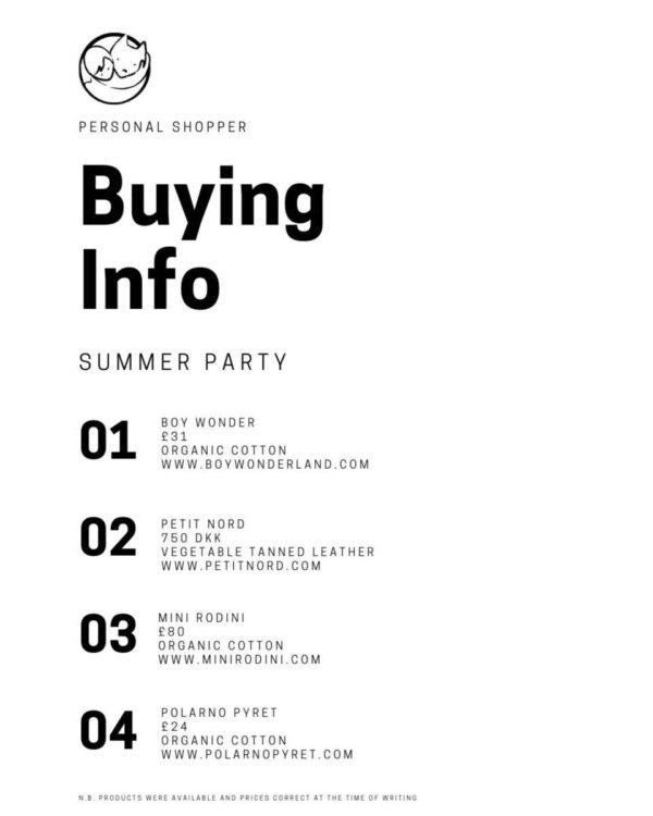 buying info
